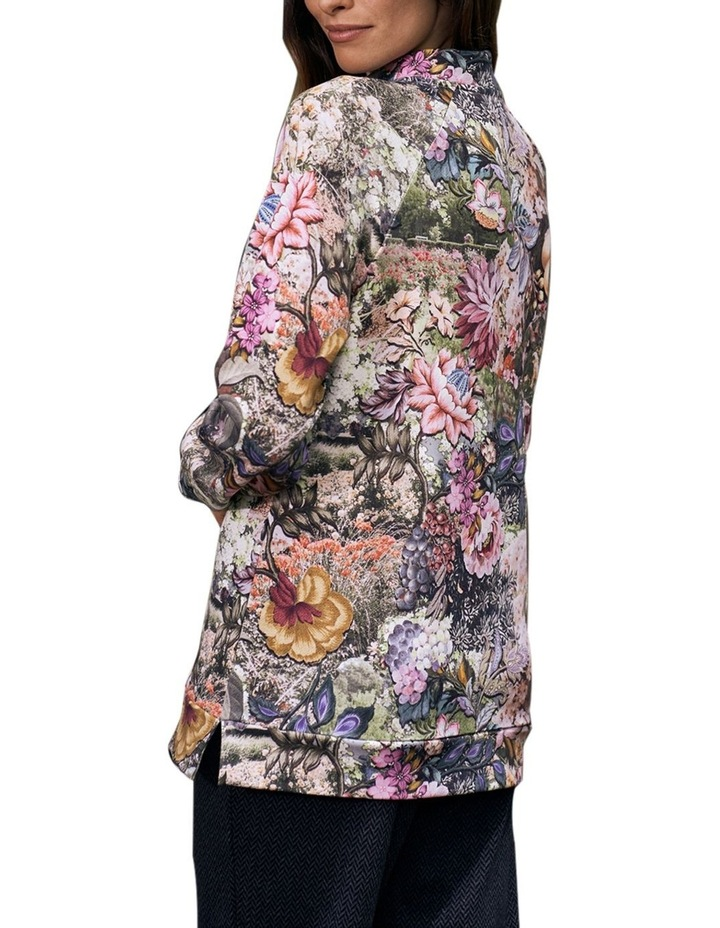 Printed Zip Collar Pullover image 5