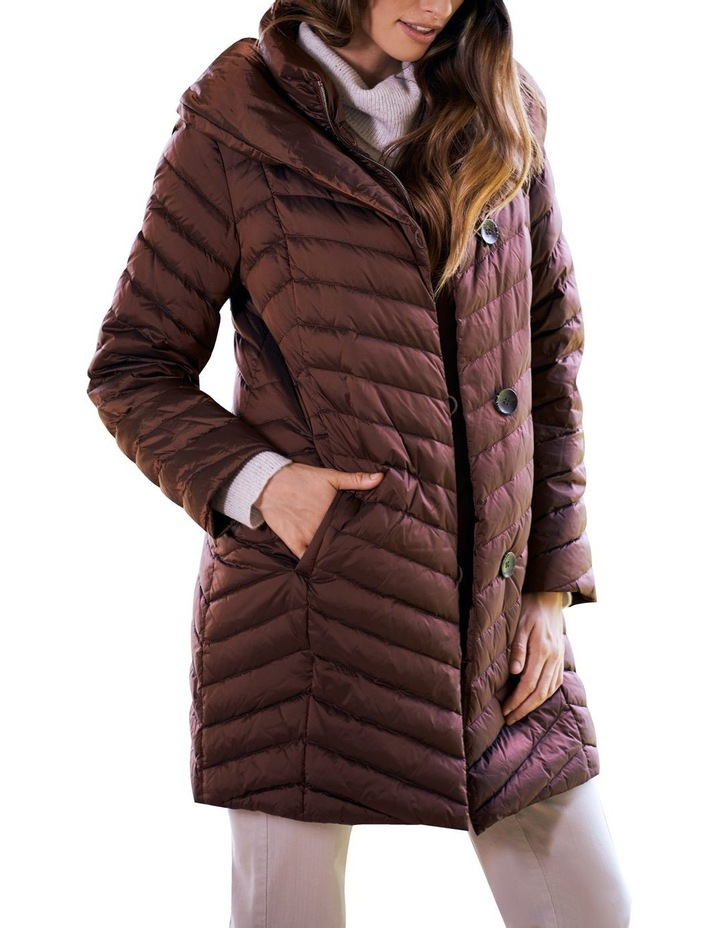 Shawl Collar Puffer Coat image 1