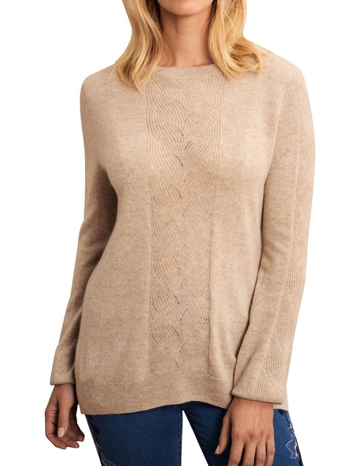 Wool Cashmere Cable Knit image 1