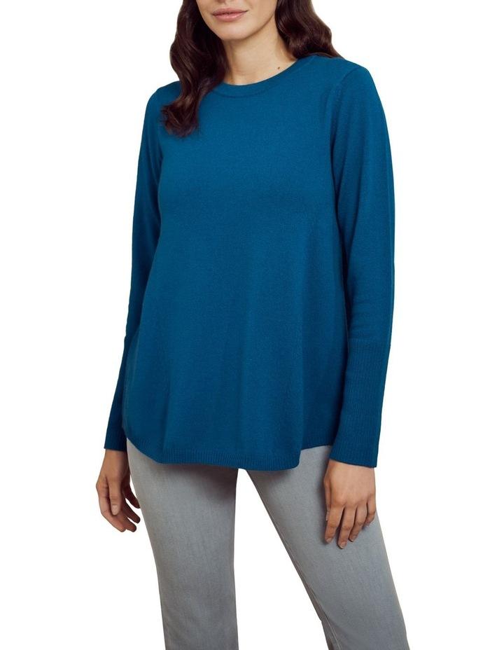 Merino Wool Knit Jumper Lapis Blue image 1