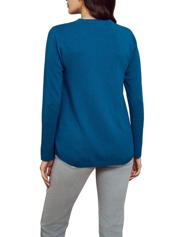 Merino Wool Knit Jumper Lapis Blue image 2