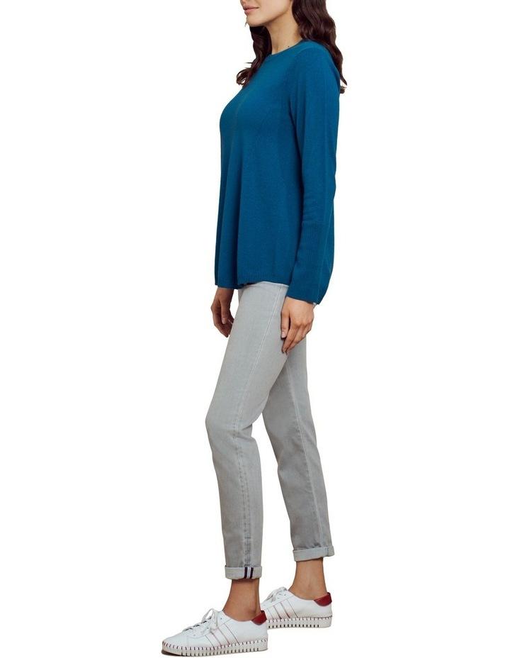 Merino Wool Knit Jumper Lapis Blue image 3