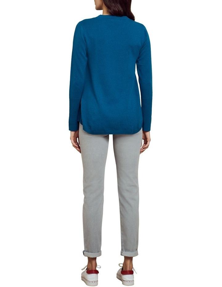 Merino Wool Knit Jumper Lapis Blue image 4