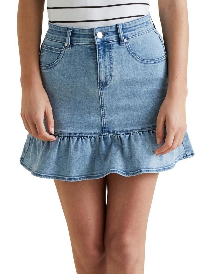 Ruffle Hem Denim Skirt image 1
