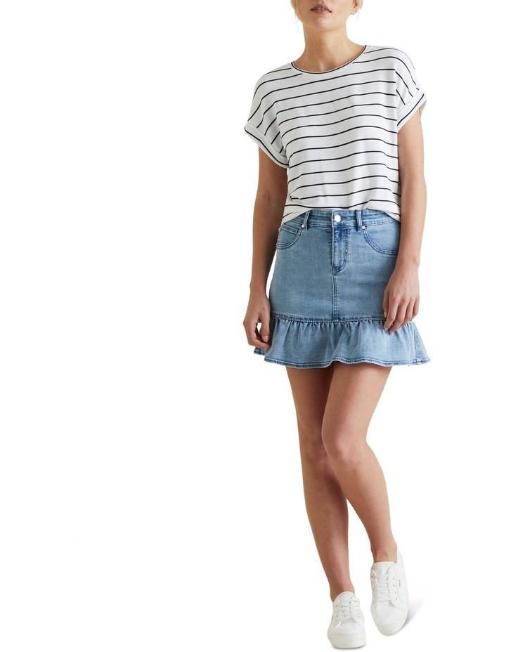 Ruffle Hem Denim Skirt image 2