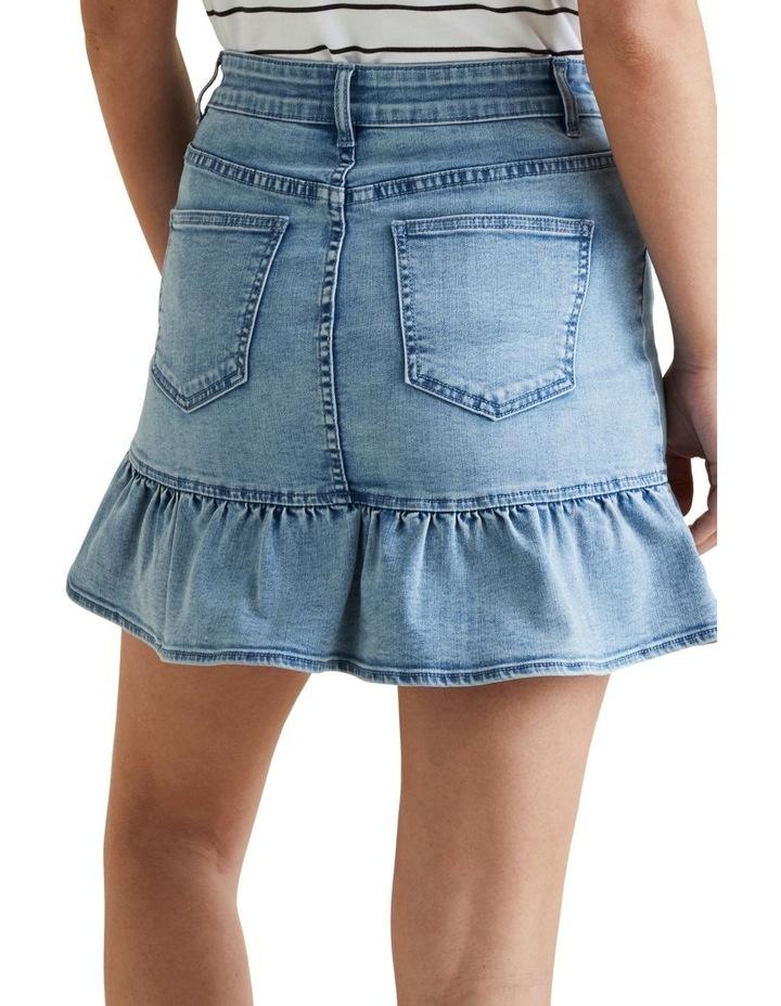 Ruffle Hem Denim Skirt image 3