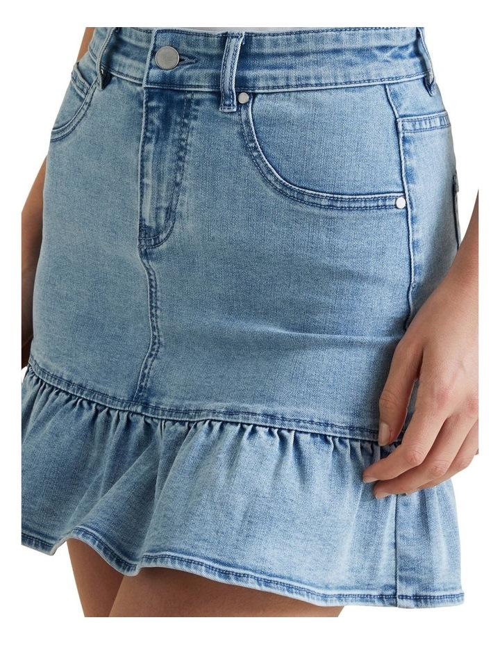 Ruffle Hem Denim Skirt image 4