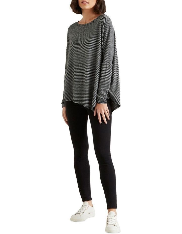 Asymmetrical Stripe Sweater image 2