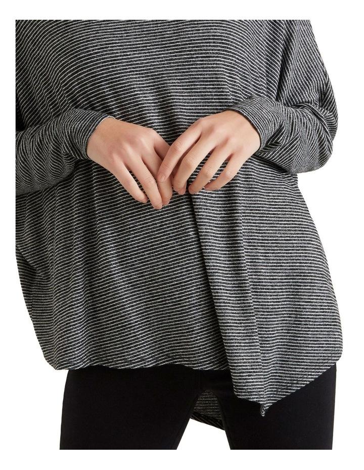 Asymmetrical Stripe Sweater image 4