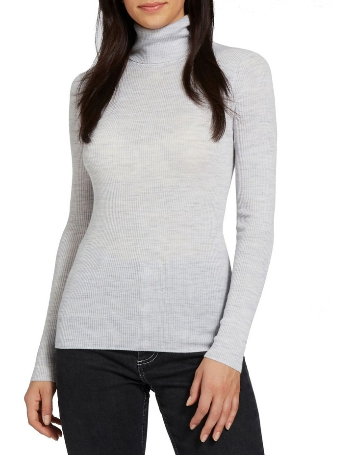 Fitted Rib Roll Neck image 1