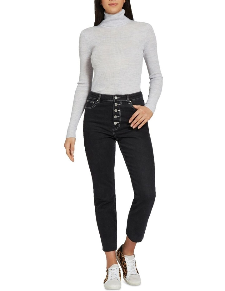Fitted Rib Roll Neck image 2