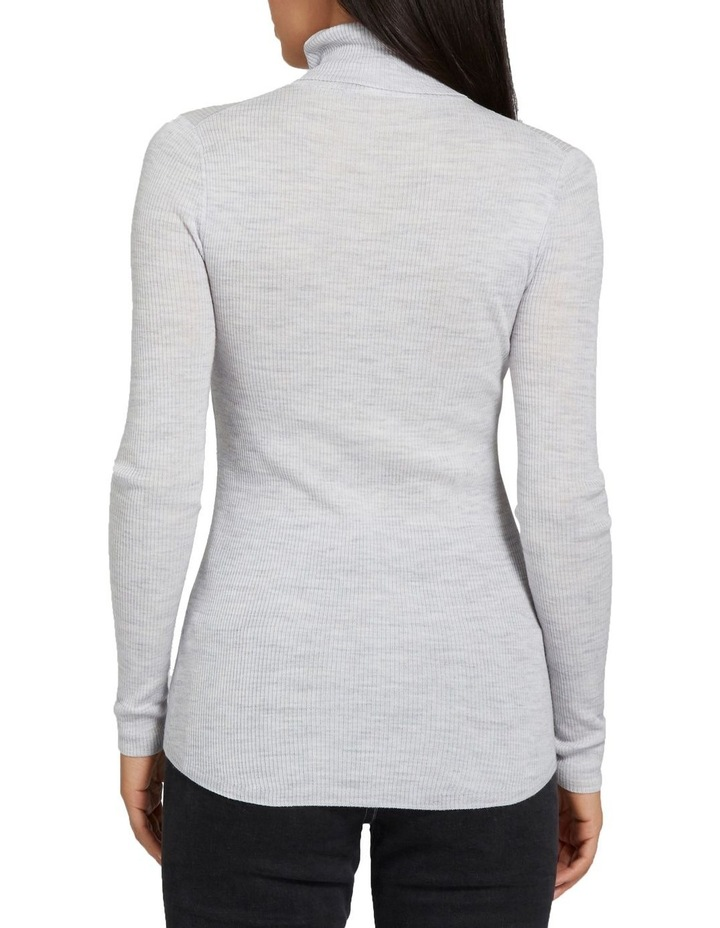 Fitted Rib Roll Neck image 3