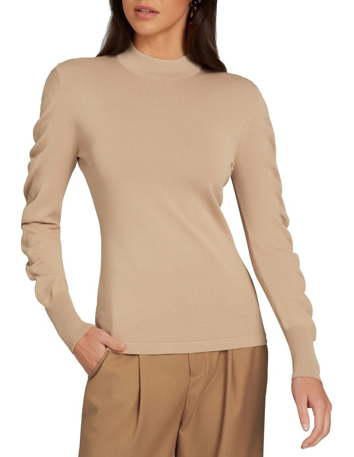 Crepe Roll Neck Knit image 1