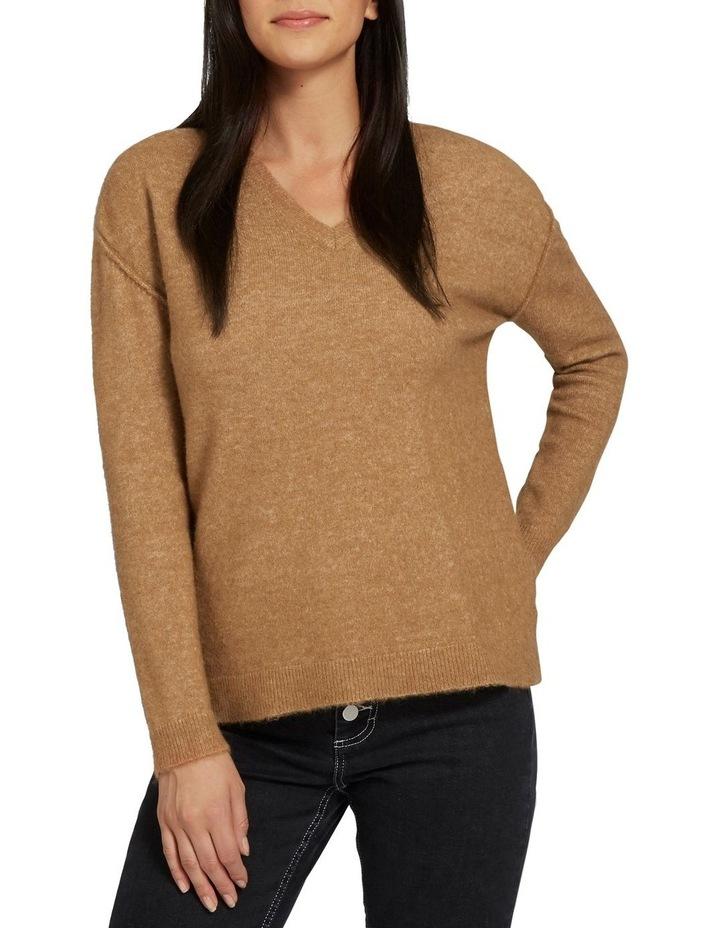 V Neck Plush Sweater image 1