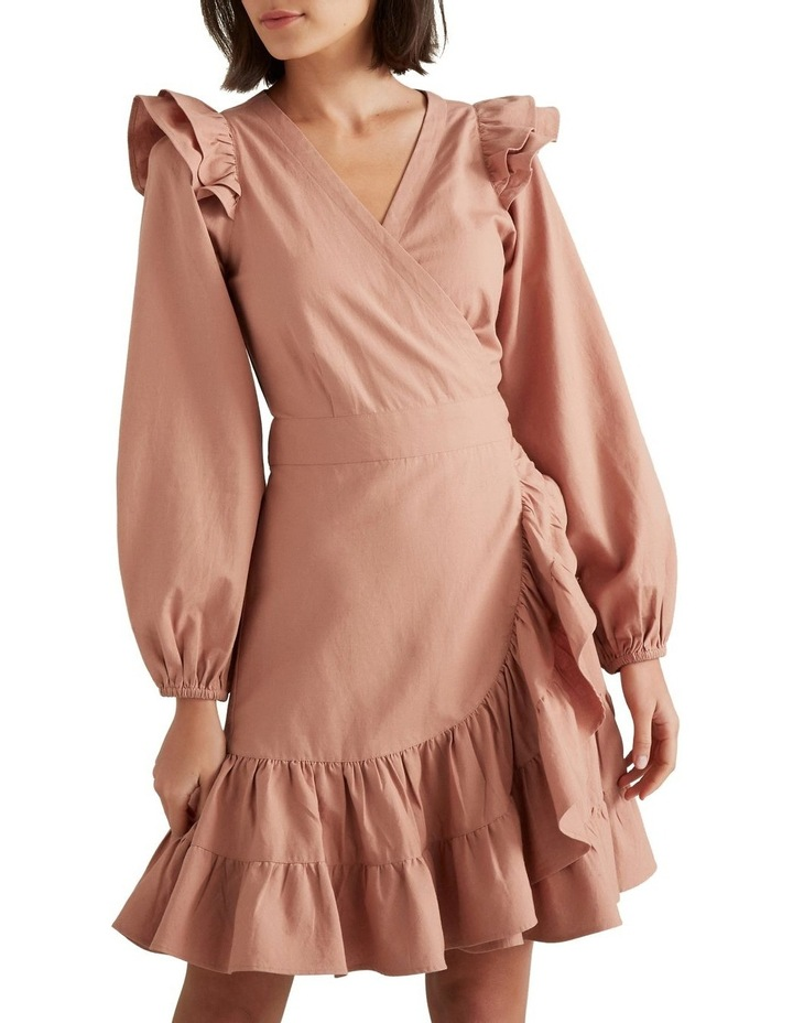 Wrap Front Frill Dress image 1