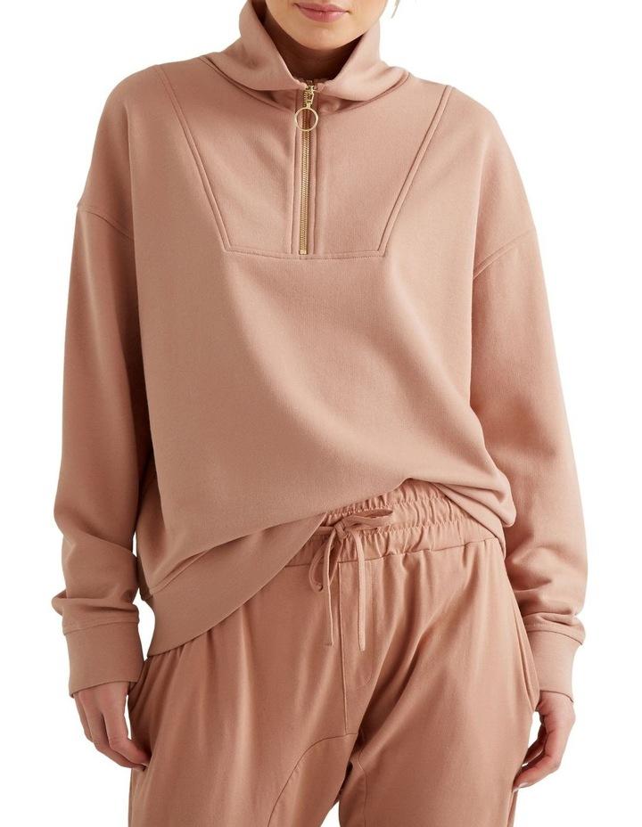 Drop Shoulder Zip Sweater image 1