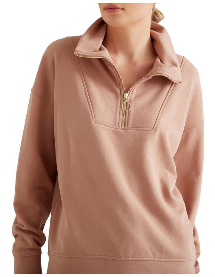 Drop Shoulder Zip Sweater image 4