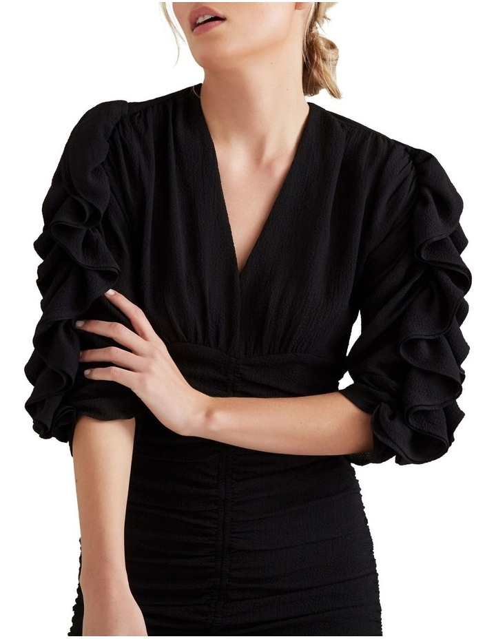 Textured Frill Sleeve Dress image 1