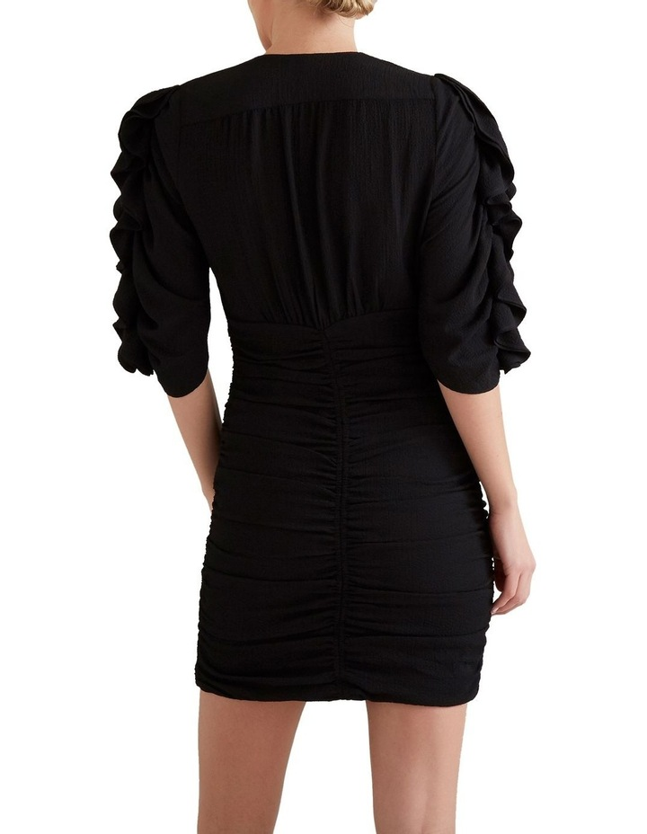 Textured Frill Sleeve Dress image 2