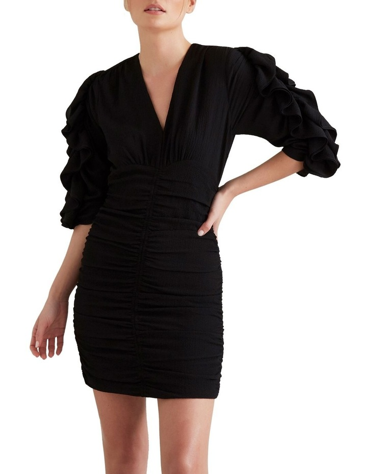 Textured Frill Sleeve Dress image 4