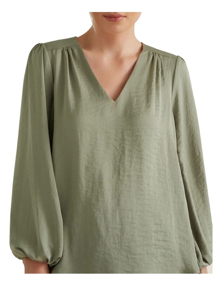 Gathered V Neck Blouse image 1