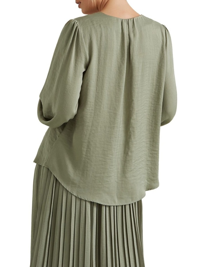 Gathered V Neck Blouse image 2