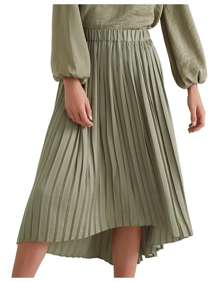 Hi Lo Pleated Skirt image 1