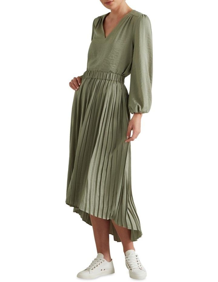 Hi Lo Pleated Skirt image 2