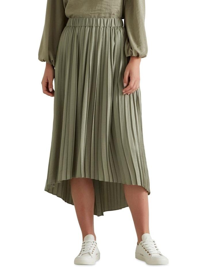 Hi Lo Pleated Skirt image 3