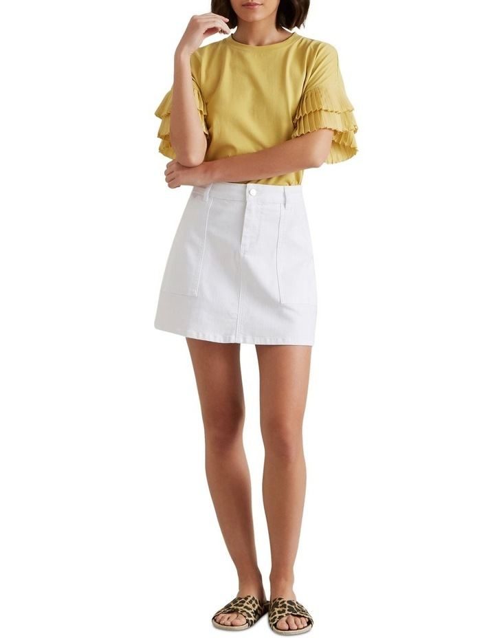 A Line Denim Mini Skirt image 1