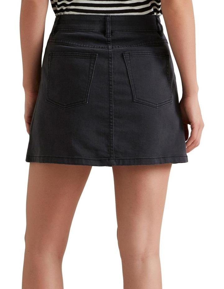 A Line Denim Mini Skirt image 2