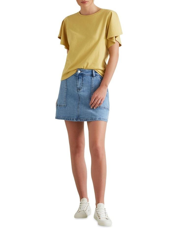 A Line Denim Mini Skirt image 3