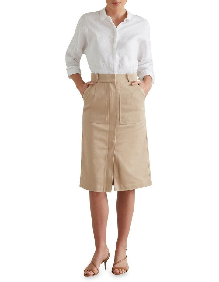 Patch Pocket Midi Skirt image 1