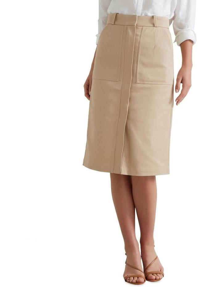 Patch Pocket Midi Skirt image 4