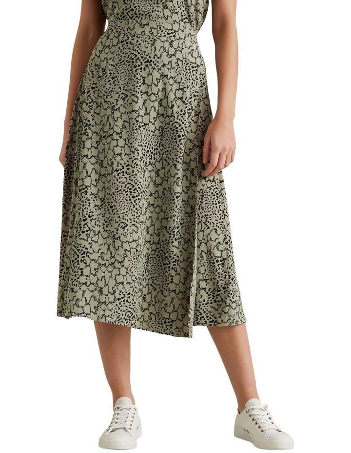Spliced Animal Print Skirt image 1