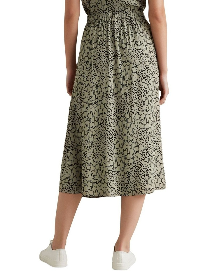 Spliced Animal Print Skirt image 3