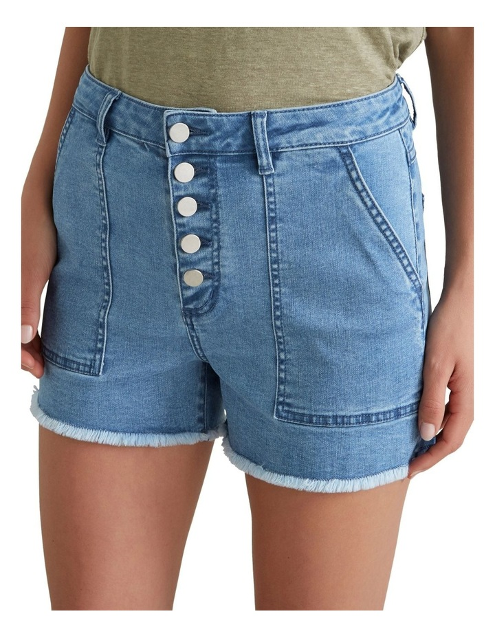 Button Through Denim Short image 1