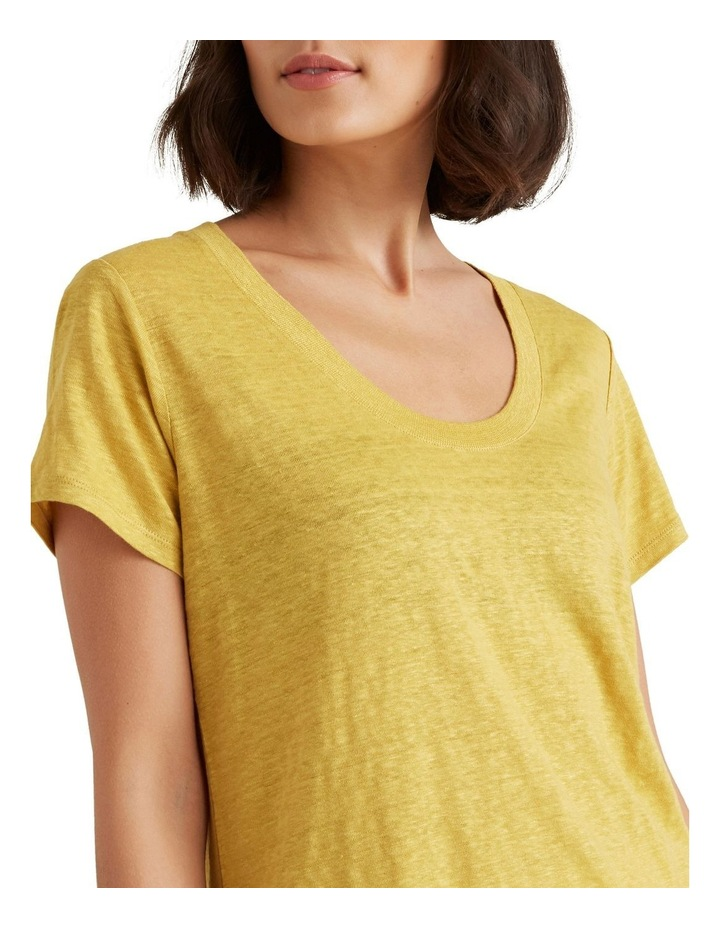 Linen Scoop Neck Tee image 1