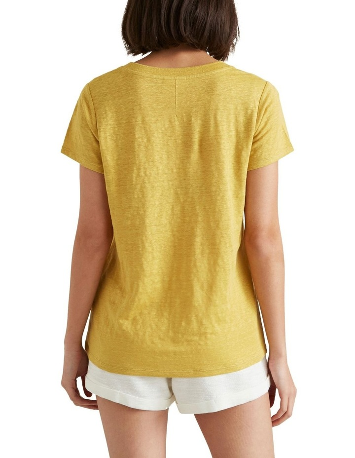 Linen Scoop Neck Tee image 2