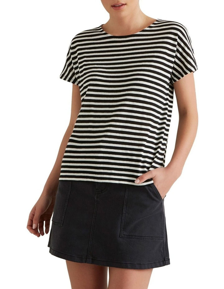 Textured Striped T Shirt image 1