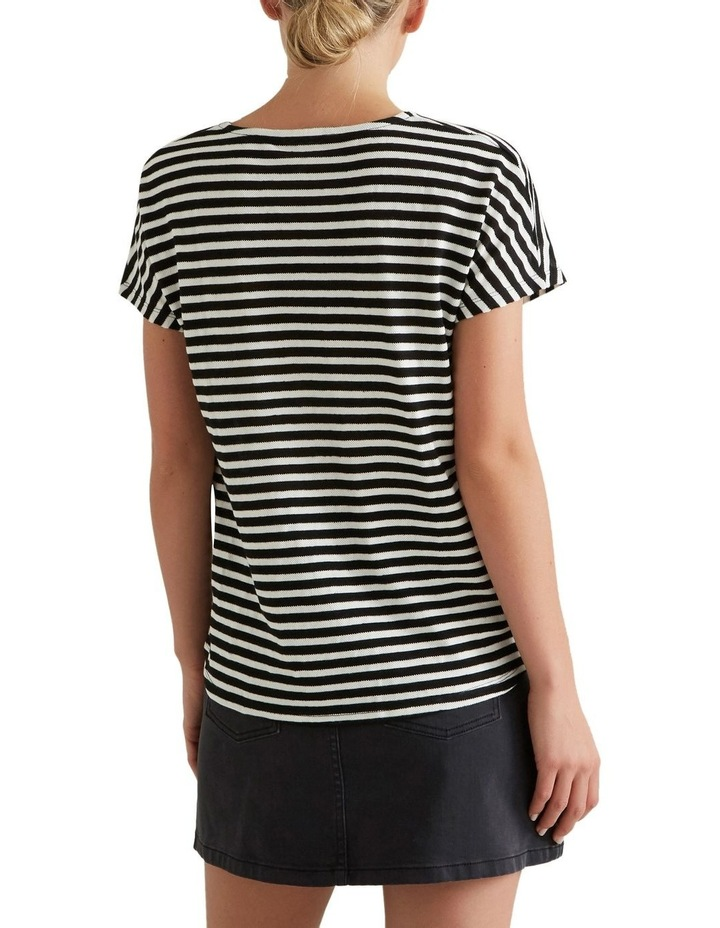 Textured Striped T Shirt image 2