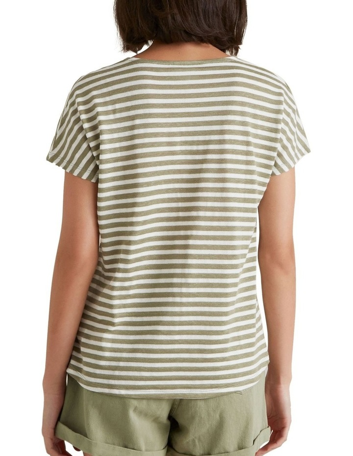 Textured Striped T Shirt image 3