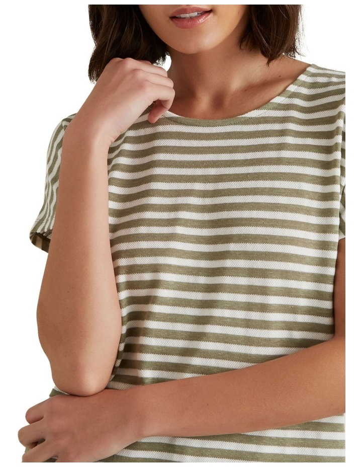 Textured Striped T Shirt image 4