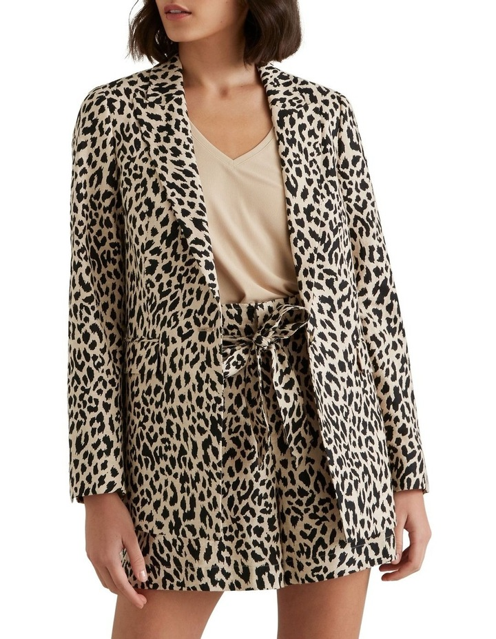 Animal Print Blazer image 1