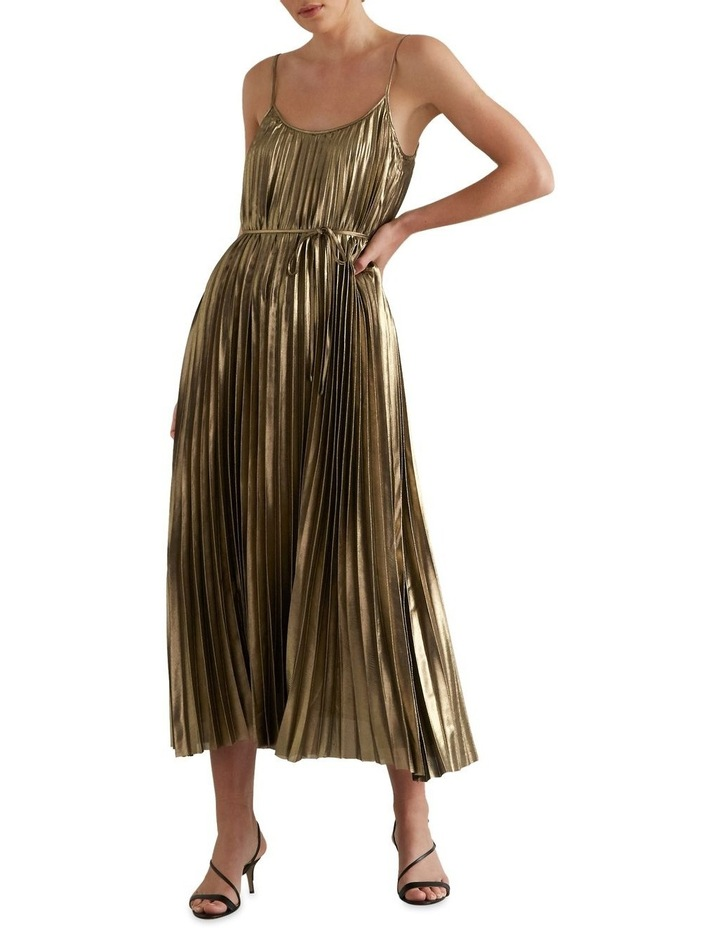 Pleated Lame Dress image 1