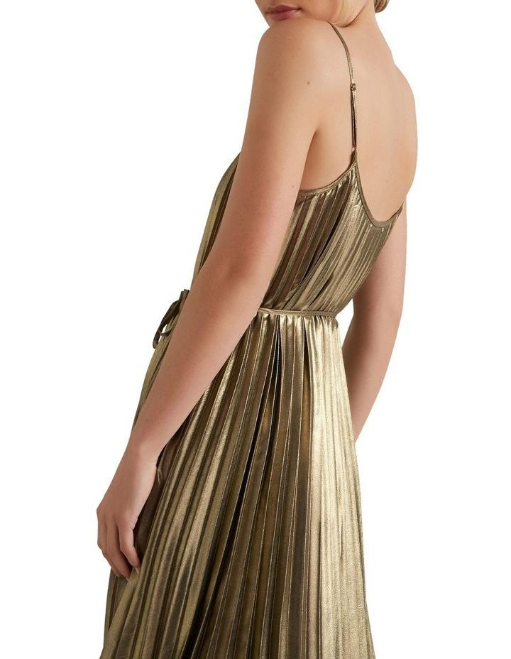 Pleated Lame Dress image 2