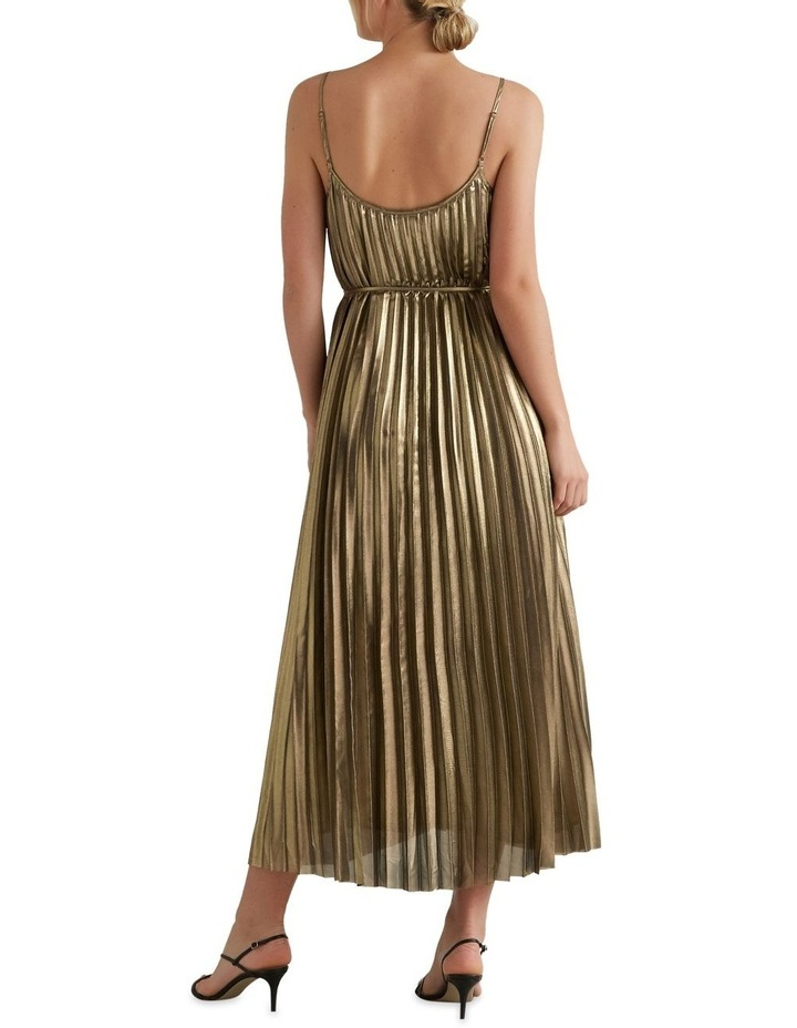 Pleated Lame Dress image 3