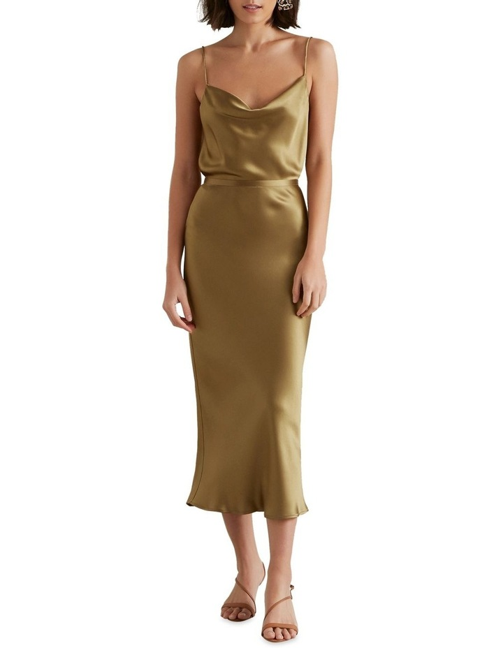 Satin Midi Skirt image 1