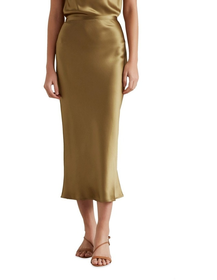 Satin Midi Skirt image 2