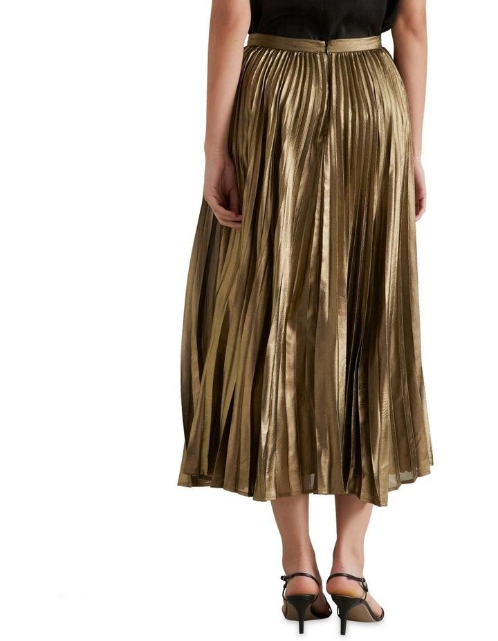 Pleated Lamé Skirt image 2